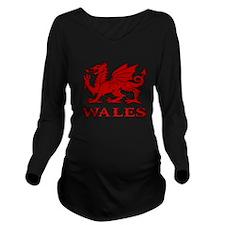 cymru wales welsh ca Long Sleeve Maternity T-Shirt