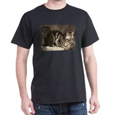 Cute Cat art T-Shirt