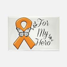 Kidney Cancer For My Hero Rectangle Magnet