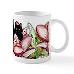 BLACK CATS LILIES art Mug