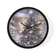 Vintage Christmas Wall Clock