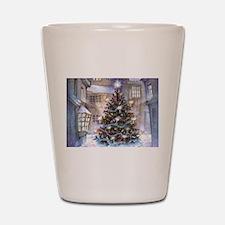Vintage Christmas Shot Glass