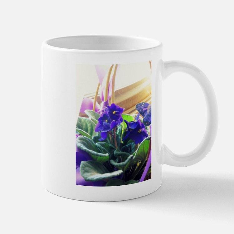 Purple Violet Basket Mugs
