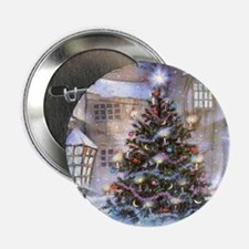 "Vintage Christmas 2.25"" Button"