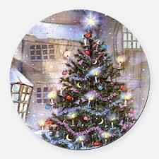 Vintage Christmas Round Car Magnet