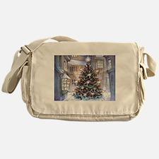 Vintage Christmas Messenger Bag