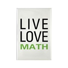 Live Love Math Rectangle Magnet (10 pack)