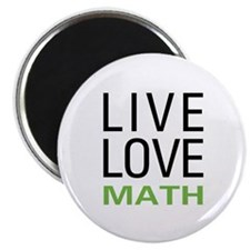 "Live Love Math 2.25"" Magnet (10 pack)"