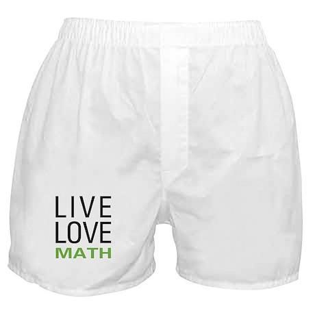 Live Love Math Boxer Shorts