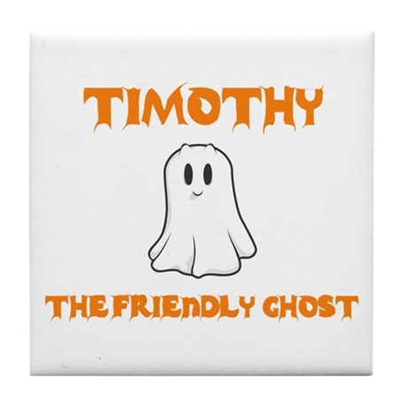 Timothy the Friendly Ghost Tile Coaster