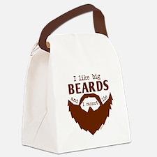 I Like Big Beards Canvas Lunch Bag