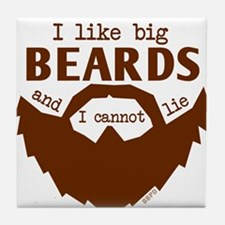 I Like Big Beards Tile Coaster