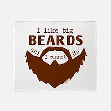 I Like Big Beards Throw Blanket
