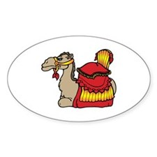 camel with red seat Stickers