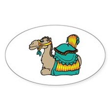 camel with teal seat Stickers