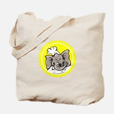 chef elephant in yellow Tote Bag