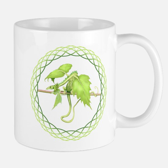 green leaf dragon Mugs