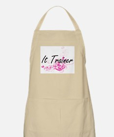 It Trainer Artistic Job Design with Flowers Apron