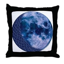 Celtic Knotwork Blue Moon Throw Pillow