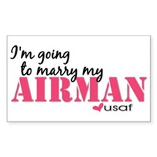 I'm going to marry my Airman Rectangle Decal