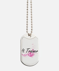 It Trainer Artistic Job Design with Flowe Dog Tags