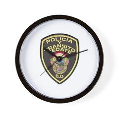Tecate Traffic Police Wall Clock