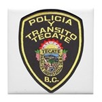 Tecate Traffic Police Tile Coaster