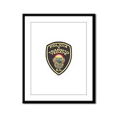 Tecate Traffic Police Framed Panel Print