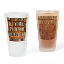 Bookshelf Books Drinking Glass