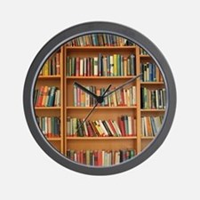 Bookshelf Books Wall Clock