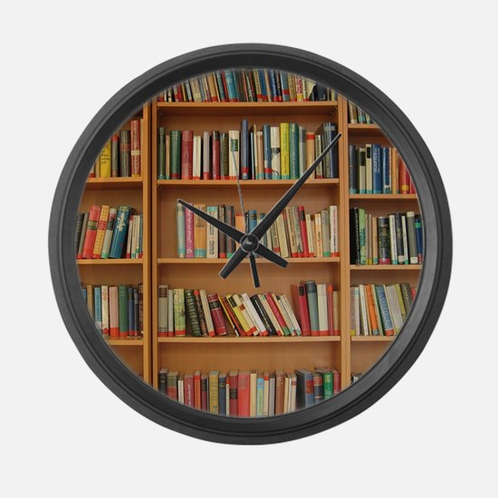 Bookshelf Books Large Wall Clock