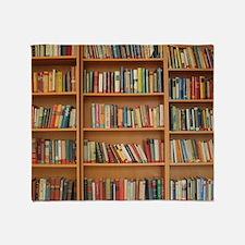 Bookshelf Books Throw Blanket