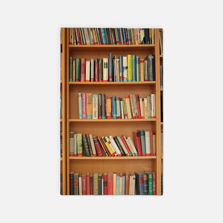 Bookshelf Books Area Rug
