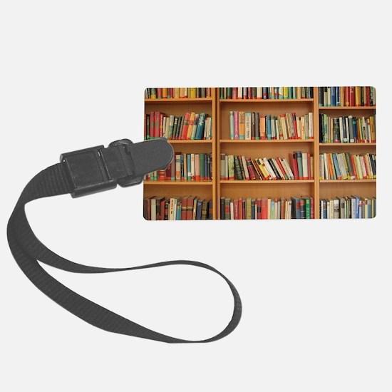 Bookshelf Books Luggage Tag
