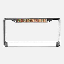Bookshelf Books License Plate Frame