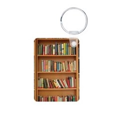 Bookshelf Books Keychains