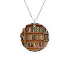 Bookshelf Books Necklace