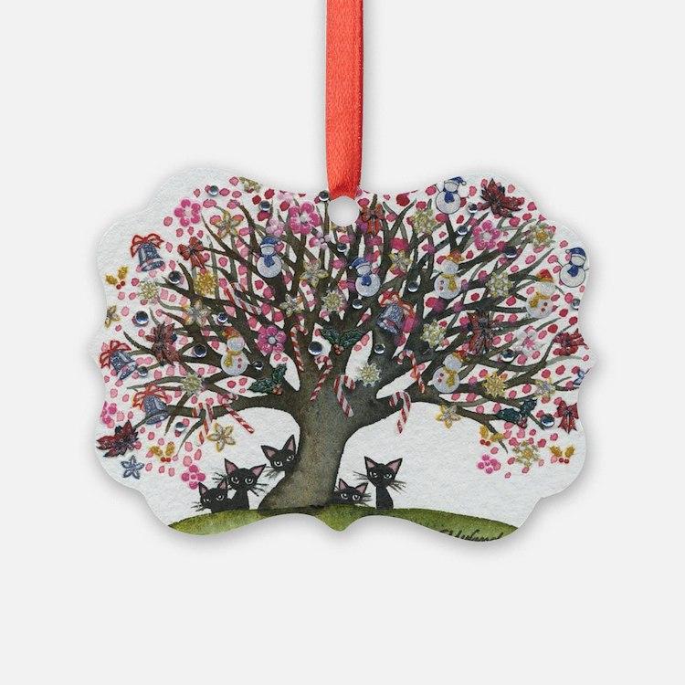 Christmas Tree Stray Cats Ornament