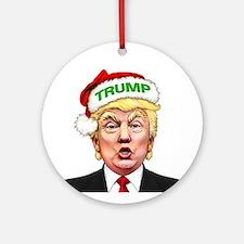 Santa Trump Round Ornament
