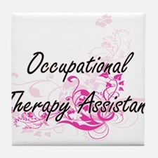 Occupational Therapy Assistant Artist Tile Coaster