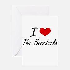 I Love The Boondocks Greeting Cards