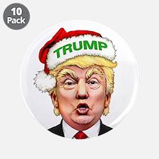 """Santa Trump 3.5"""" Button (10 pack)"""