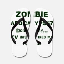 ZOMBIE APOCALYPSE? Don't worry...video Flip Flops