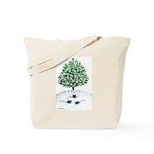 Christmas Tree Stray Cats Tote Bag