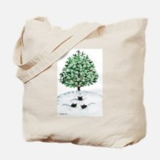 Christmas Tree Stray Cats Tote Bag