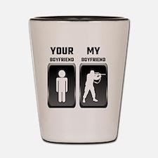 Your Boyfriend My Boyfriend Military Shot Glass