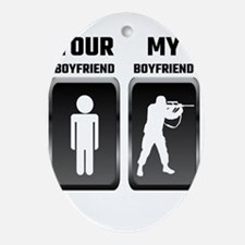 Your Boyfriend My Boyfriend Military Oval Ornament
