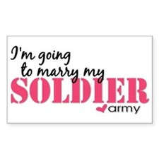 I'm going to marry my Soldier Sticker (Rectangular