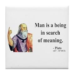 Plato 3 Tile Coaster