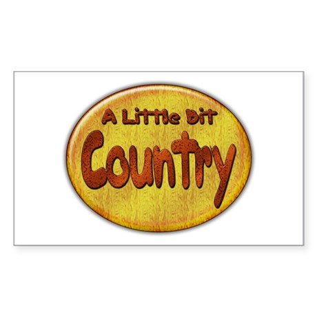 Country Western Rectangle Sticker
